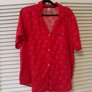 NWOT red floral Victoria's Secret pajama set